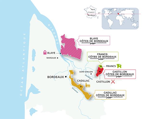 Côtes de Bordeaux (Soucre: http://www.bordeaux-cotes.com/)